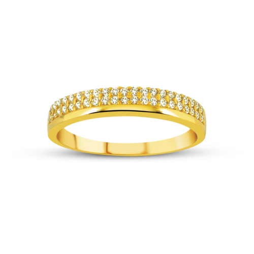 Allegro Gold Zirkon Taşlı Yarım Tur Altın Yüzük AGT0516