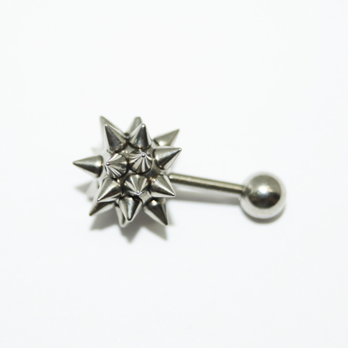 Cadının Dükkanı 316L Cerrahi Çelik Spike Top Kulak Piercing