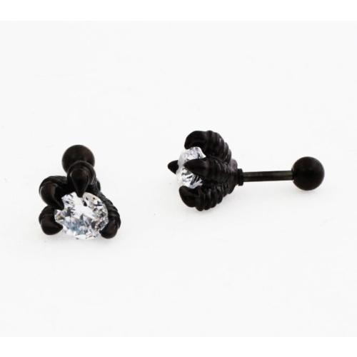 Cadının Dükkanı 316L Cerrahi Çelik Taşlı Pençe Kulak Piercing