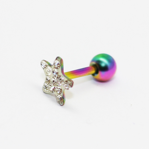 Cadının Dükkanı 316L Cerrahi Çelik Taşlı Yıldız Kulak Piercing