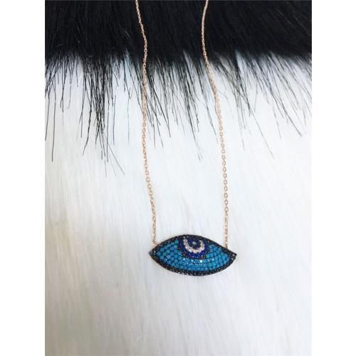 Else Silver Göz Gümüş Kolye