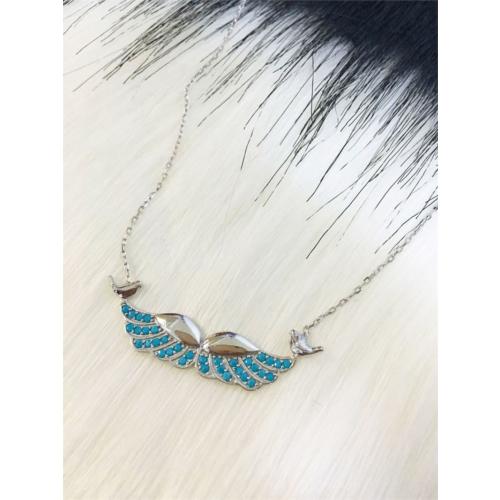 Else Silver Kanat Taşıyıcı Kuşlar Gümüş Kolye