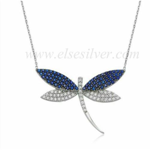 Else Silver Mavi Yusufcuk Kolye