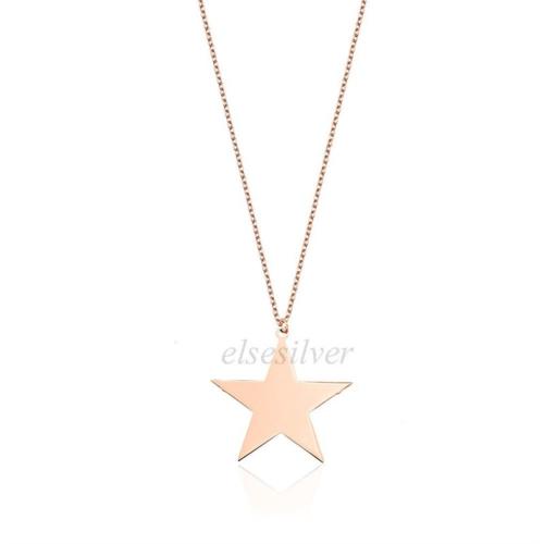 Else Silver Yıldız Kolye