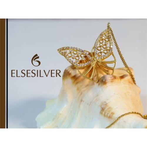 Else Silver Sonbahar Kelebeği Kolye