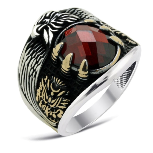 Tesbihci Dede Zirkon Taşlı Son İmparator Yüzüğü