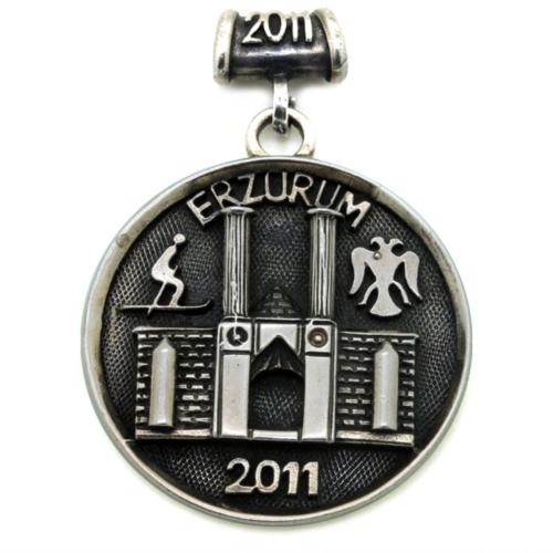 Tesbihci Dede Erzurum 2011 Armalı Madalyon Tarzı Erkek Gümüş Kolye