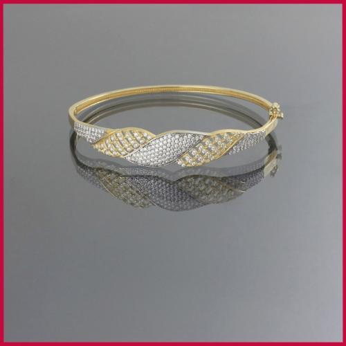 Tuğrul Kuyumculuk Taşlı Kelepçe Altın Bilezik T016577