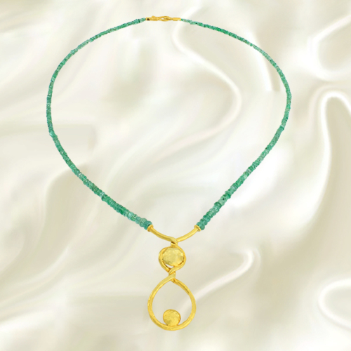 Tuğrul Kuyumculuk Handmade Emerald Necklace