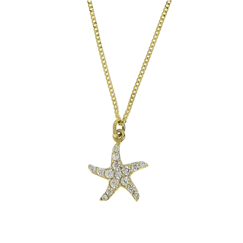 Tuğrul Kuyumculuk Anneler Günü Özel Deniz Yıldızı Altın Kolye
