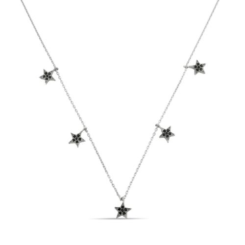 Argentum Concept Yıldızlı Gümüş Şans Kolyesi
