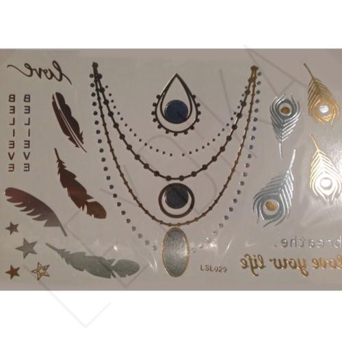 Leydika Flash Tattoo Geçici Metalik Dövme 144