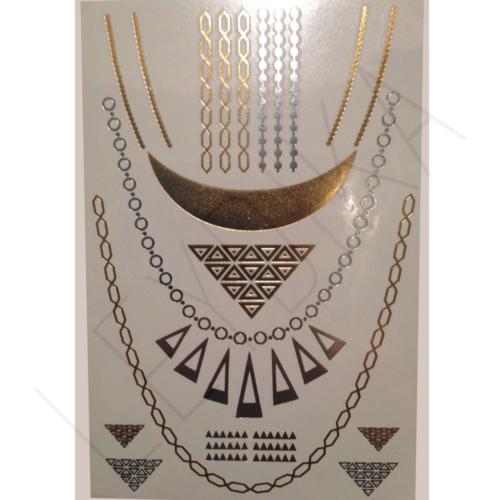 Leydika Flash Tattoo Geçici Metalik Dövme 143