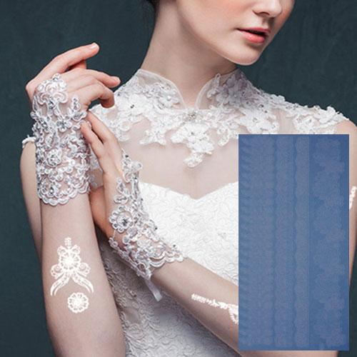 Leydika White Tattoo Beyaz Geçici Metalik Dövme 300