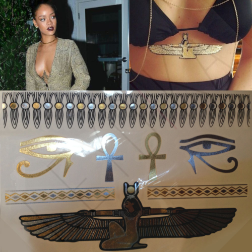 Leydika Rihanna Egypt Flash Tattoo Geçici Dövme 203