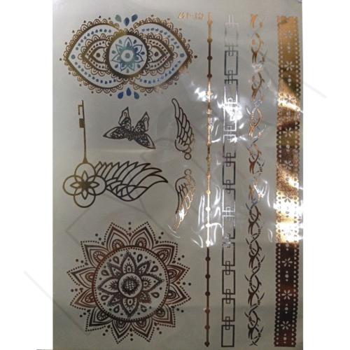 Leydika Flash Tattoo Geçici Metalik Dövme 209