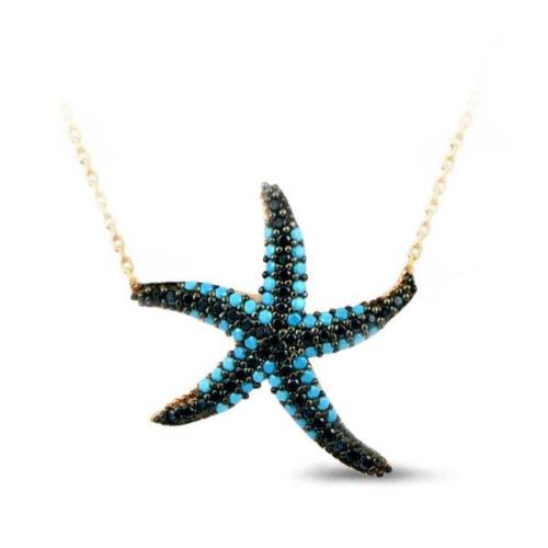 VAOOV 925 Ayar Gümüş Deniz Yıldızı Kolye