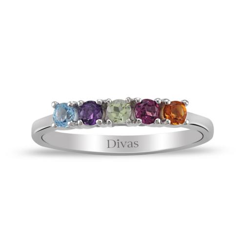 Divas Love Renkli Beştaş Yüzük