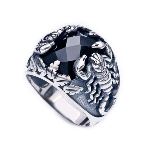 Tesbihane Akrep Kral - 925 Ayar Gümüş Akrep Motifli Yüzük