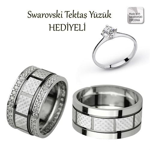 Ejoya Gümüş Çift Alyans P1081