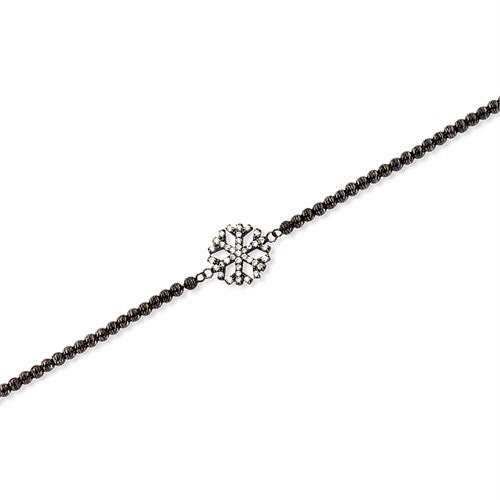 Altınsepeti Siyah Rodyum Kaplamalı Kartanesi Gümüş Bileklik Asmf021279