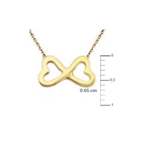 Goldstore 14 Ayar Altın Sonsuzluk Kalp Kolye Gp9990