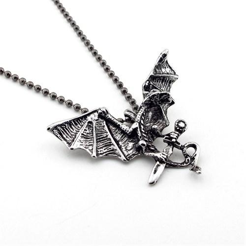 Solfera Efderya Kılıç Metal Erkek Kolye Tasarım K464