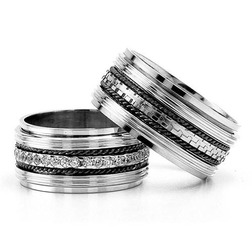 Berk Kuyumculuk Gümüş Alyans 5803(çift)