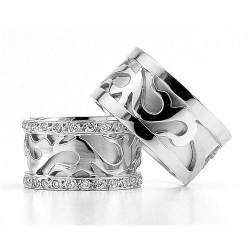 Berk Kuyumculuk Gümüş Alyans 5810(çift)