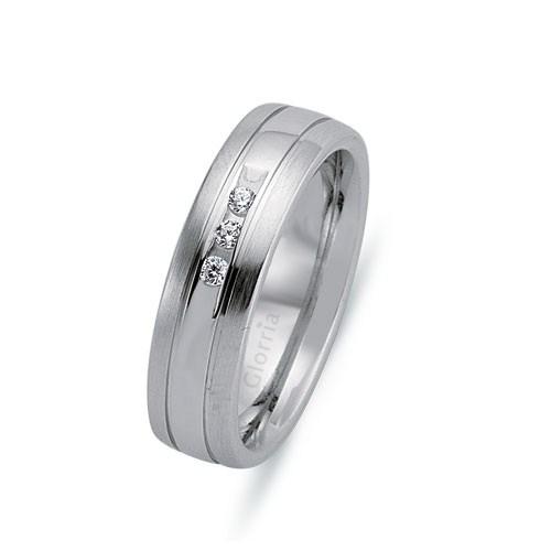 Glorria 925 Ayar Gümüş 6.5Mm Bayan Alyans Yüzük