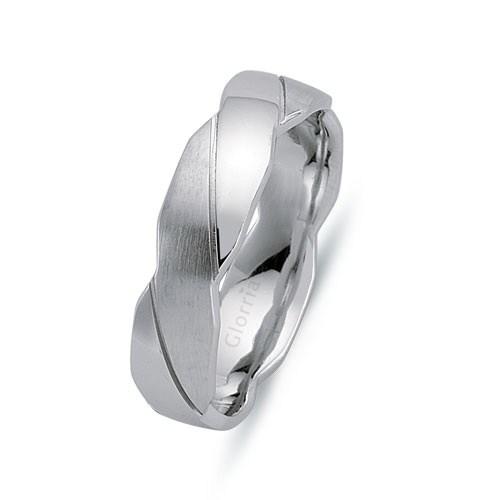 Glorria 925 Ayar Gümüş 6Mm Erkek Alyans Yüzük