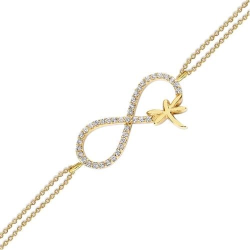 Altınsepeti Altın Sonsuzluk İşareti Yusufçuklu Bileklik As140bl