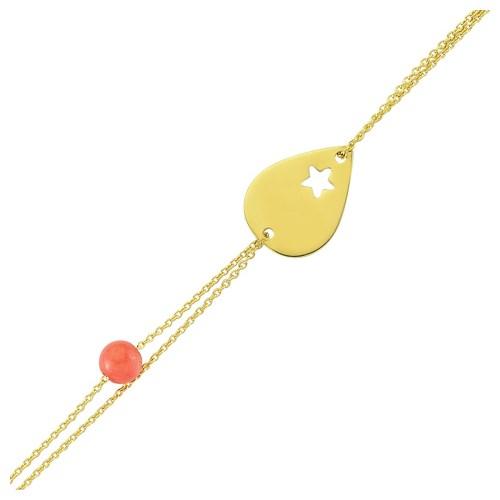 Altınsepeti Altın Yıldızlı Damla Boncuk Bileklik As163bl