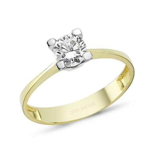 Altınsepeti Altın Tektaş Evlilik Teklifi Yüzük As8y88r1