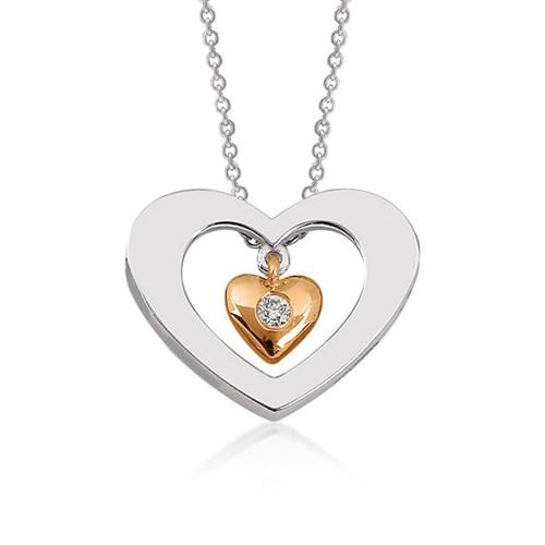 Altınsepeti Pırlanta Taşlı Kalp Kolye Pyz11872