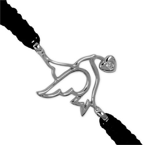 Ariş Pırlantalı Kuş Bileklik