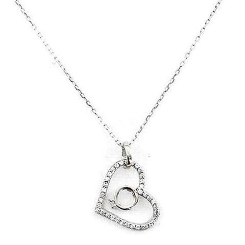 Beyazıt Takı 925 Ayar Gümüş Yüzüklü Kalp Kolyesi
