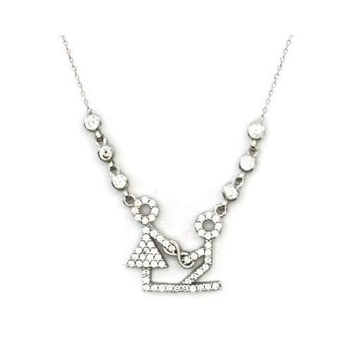 Beyazıt Takı 925 Ayar Gümüş Beyaz Sevgili Kolyesi