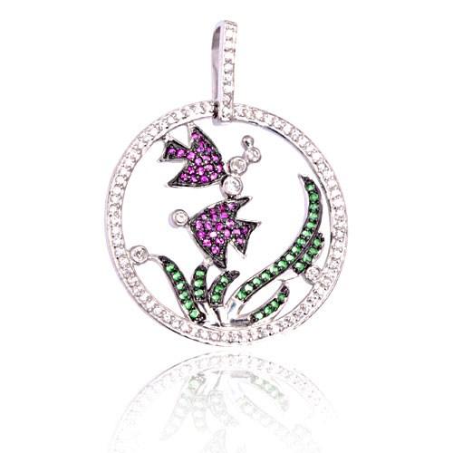 eJOYA Çiçekli Gümüş Kolye 601014