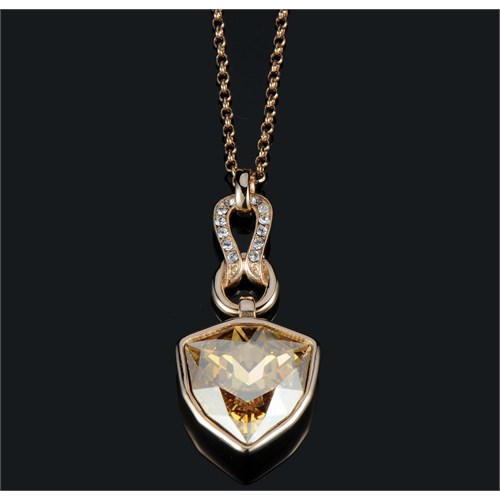Monemel Swarovski® Taşlı Gold Kolye