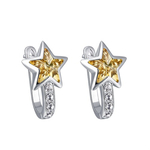 Monemel Swarovski Taşlı Yıldız Küpe