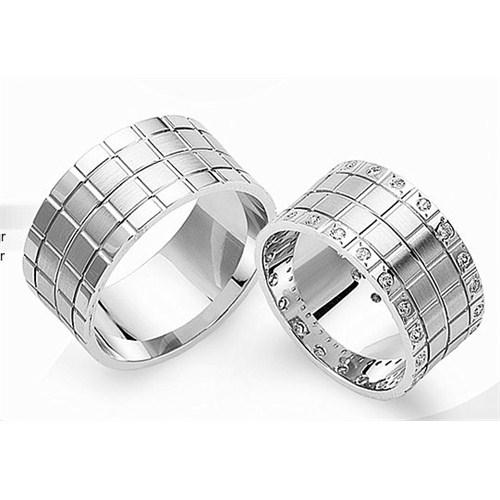 Berk Kuyumculuk Gümüş Alyans 5819(çift)