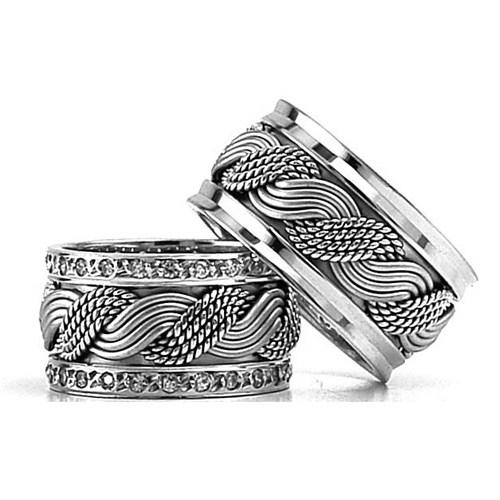 Berk Kuyumculuk Gümüş Alyans 5822(çift)