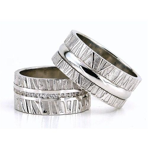 Berk Kuyumculuk Gümüş Alyans 5827(çift)