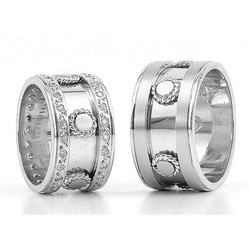 Berk Kuyumculuk Gümüş Alyans 5832(çift)