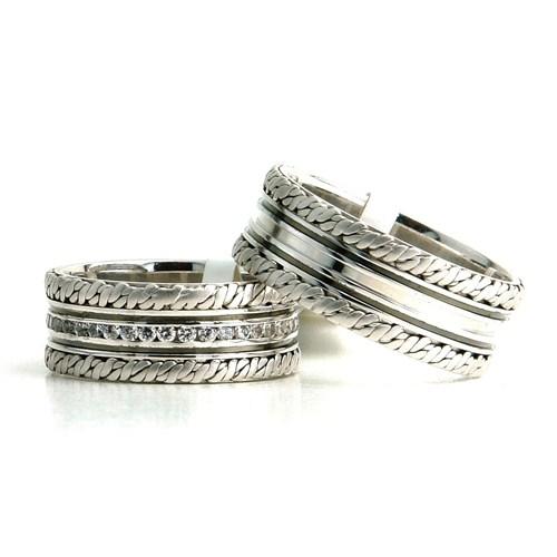 Berk Kuyumculuk Gümüş Alyans 5833(çift)