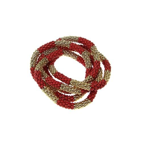 Chiccy Sarı Kırmızı Düğüm Bileklik