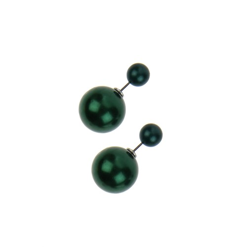 Chiccy Nefti Yeşil Dev Top Küpe