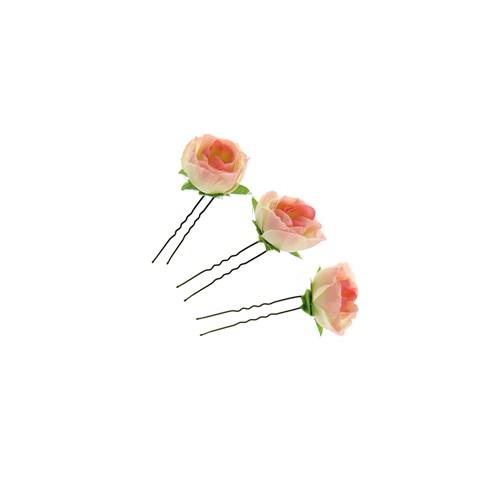 Chiccy Pembe Güller Üçlü Topuz Tokası