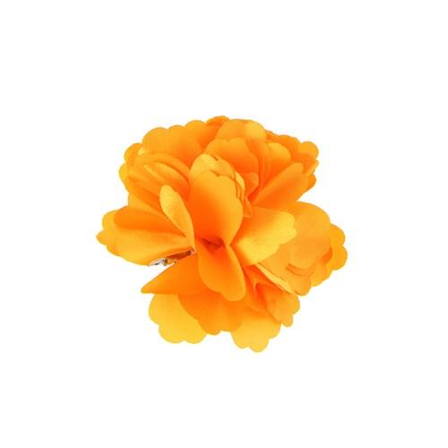 Chiccy Sarı Kumaş Özel Tasarım Çiçek Toka